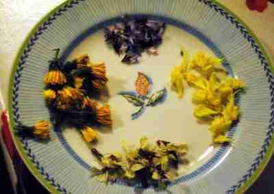 piatto di fiori